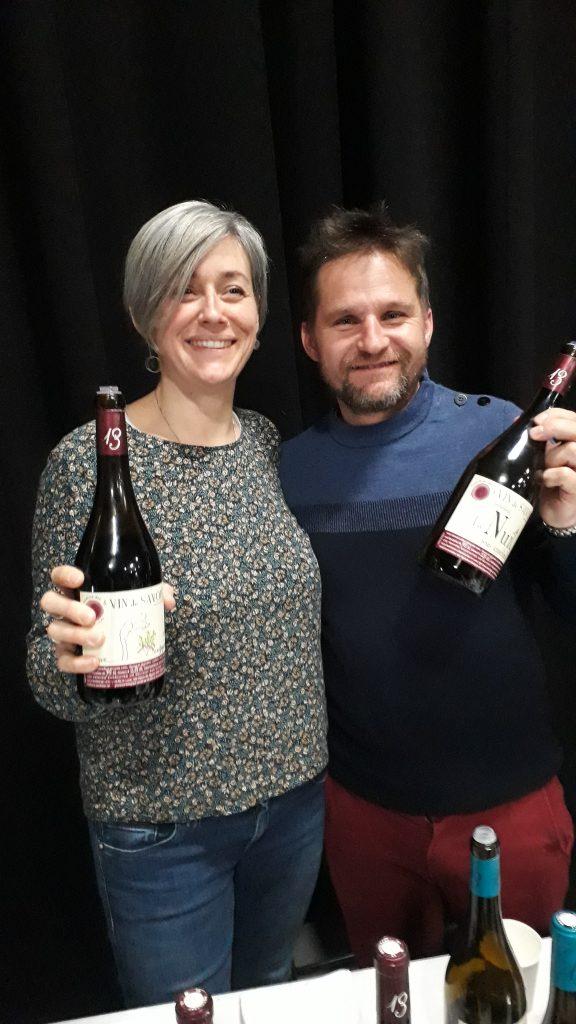 Photo de Sylvain et Anne LIOTARD qui nous présentent leurs vins
